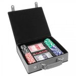 Leatherette Poker Gift Set  Gray Gift Items