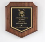 Walnut Corporate Shield Plaque Plaques