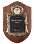 Walnut Cast Corporate Shield Plaque Plaques